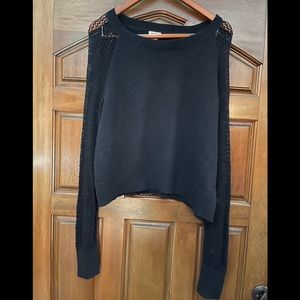 Mossimo Supply black crop long sleeve sweater